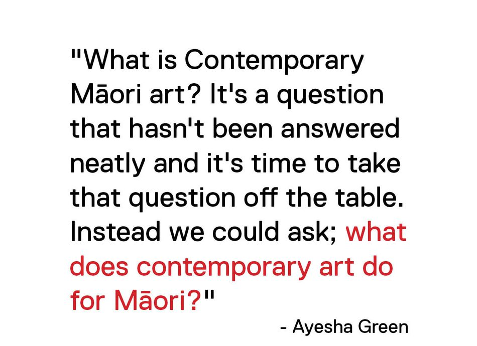 Artist Talks with Ayesha Green and Toi Te Rito Maihi