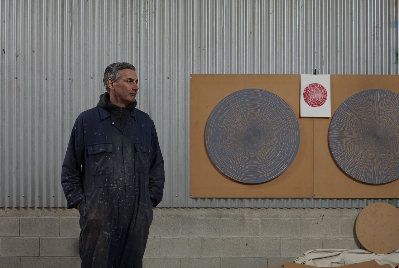Kevin Osmond, in his studio