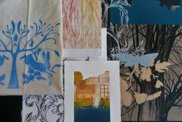 Printmaking on Fabric and Paper